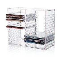 Stackable Clear Plastic CD Holder holds 30 standard jewel cases Spice Ja... - $21.72