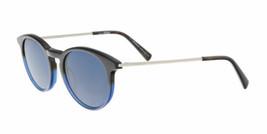 Mont Blanc Gafas de Sol MB549/S 56V 49MM Azul Marco / Negro Redondo Lente - $113.84