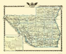 Pike Illinois Landowner - Warner 1870 - 23 x 27.94 - $36.95+
