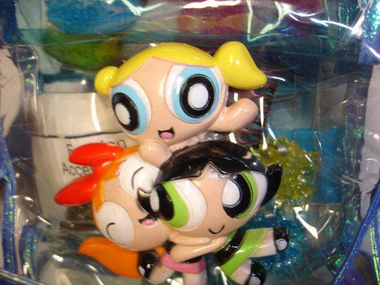 New Cartoon Network Powerpuff Girls mirror & hair accessories set image 5