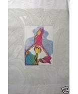 Orchid Sketch Book I by J. Garcia; Floral; The Orchid is Hand Colored Et... - $700.00