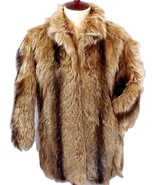 Vintage 80's WILSON'S Mens SMALL/S--Womens LARGE/L DYED NANNY GOAT FUR - $149.45