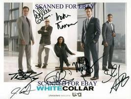 White Collar Cast Signed Autograph Rpt Photo Matt Bomer Tim Dekay Willie Garson - $18.99