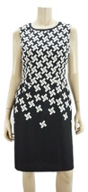 ANNE KLEIN Black/White Printed Sleeveless Knee Length Sheath Dress NWOT 6 - $15.84