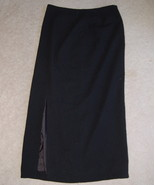 Jones New York Skirt Long Black Wool Misses 6 L... - $15.00