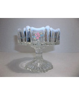 Fenton Vulcan Pillar Candle Holder French Opalescent #9571FO, French Cream Nut D - $44.00
