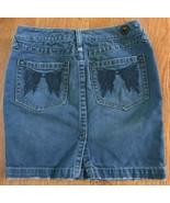 Free People Denim Mini Pencil Skirt Women's size 25 MSRP $108 Angel wings - $19.77