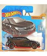 2020 Hot Wheels #81 Honda 2/5 2018 HONDA CIVIC TYPE R Black wBlackJ5Sp S... - $8.00