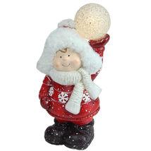 "10"" Christmas Morning Terracotta Boy Snowball Christmas Figure - tkchriscen - $39.95"