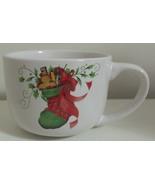 Christmas Coffee Mug New White with Red and Green - $4.95