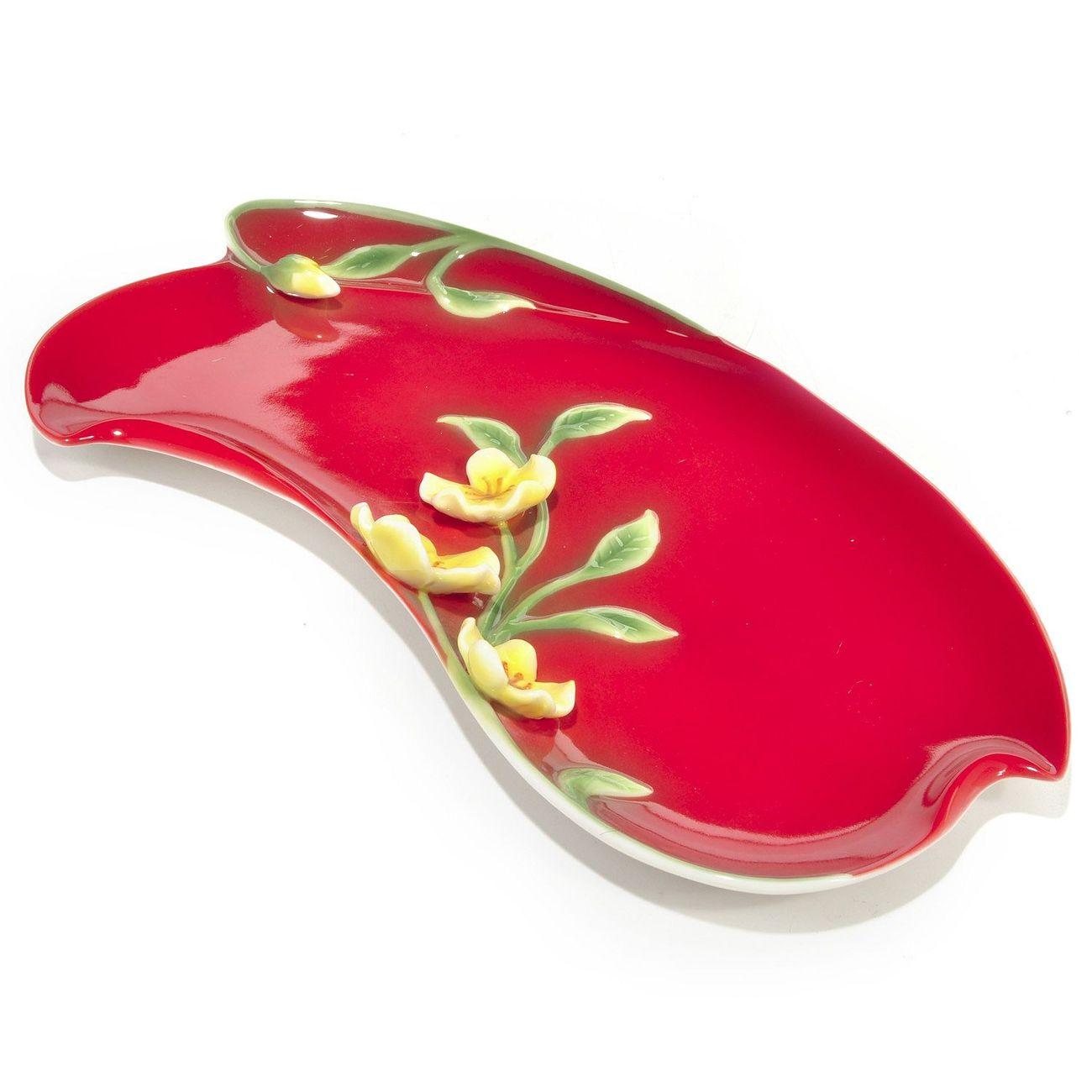 Manchu rose service plate