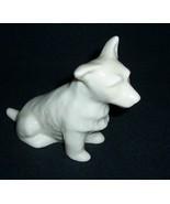 Belleek Ireland Sitting Terrier Dog /Green mark - $34.00