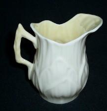 Belleek Ireland Lily Pattern Mini Creamer / Third Green
