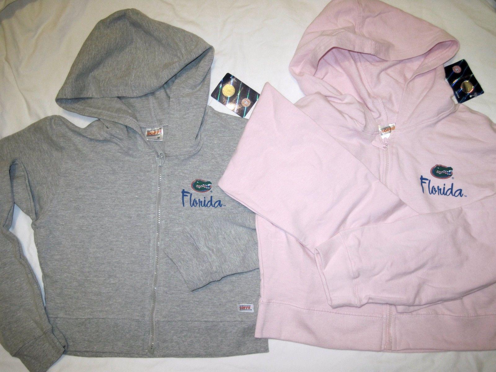 NWT University of Florida UF Gators Hoodie Zipper Jacket Pink Lt Gray by Soffe
