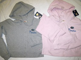 NWT University of Florida UF Gators Hoodie Zipper Jacket Pink Lt Gray by Soffe image 1