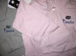 NWT University of Florida UF Gators Hoodie Zipper Jacket Pink Lt Gray by Soffe image 2