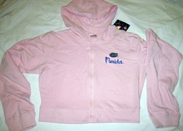 NWT University of Florida UF Gators Hoodie Zipper Jacket Pink Lt Gray by Soffe image 4
