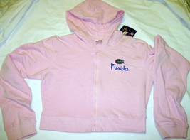 NWT University of Florida UF Gators Hoodie Zipper Jacket Pink Lt Gray by Soffe image 3