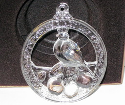 NIB Wallace crystal ornament First Day of Christmas Partridge in a Pear Tree LE image 1
