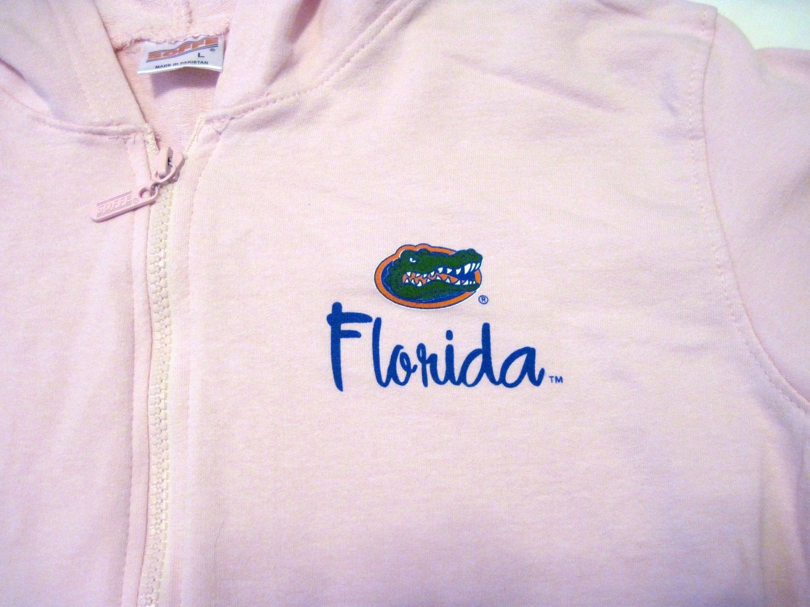 NWT University of Florida UF Gators Hoodie Zipper Jacket Pink Lt Gray by Soffe image 6