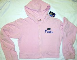 NWT University of Florida UF Gators Hoodie Zipper Jacket Pink Lt Gray by Soffe image 5