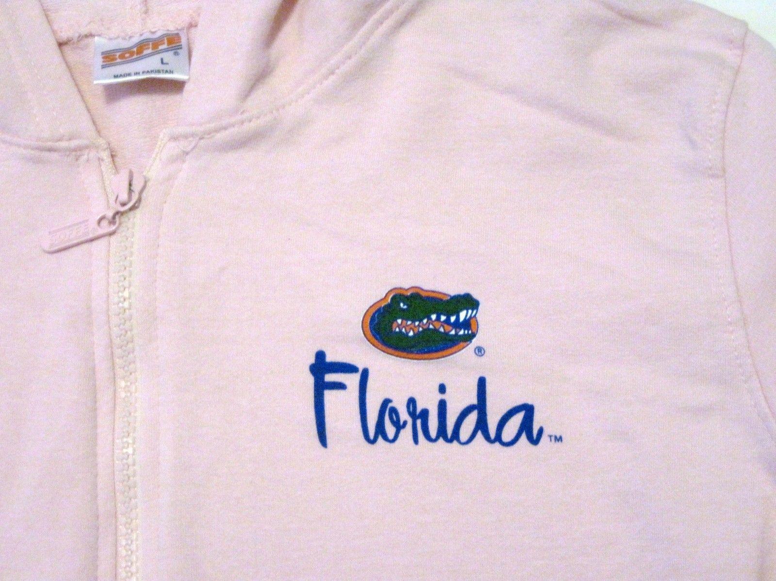 NWT University of Florida UF Gators Hoodie Zipper Jacket Pink Lt Gray by Soffe image 7