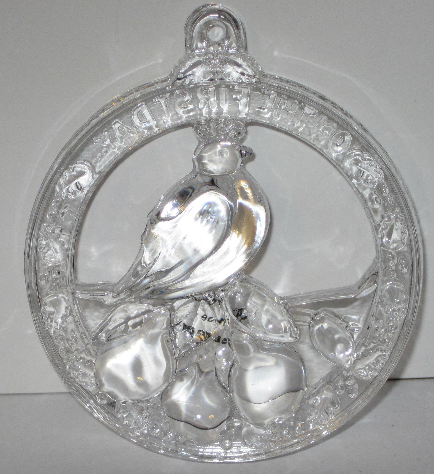 NIB Wallace crystal ornament First Day of Christmas Partridge in a Pear Tree LE image 2