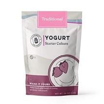 Traditional Flavor Yogurt Starter | Cultures For Health | Non GMO, Gluten Free |