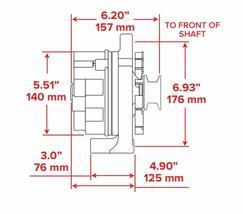 SB Ford 65-89 Mechanical Fuel Pump Two Valve M1G Style Alternator 110 Amp Chrome image 9