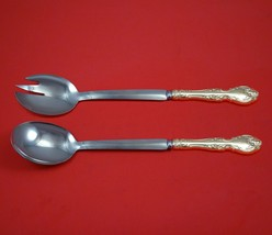 "Melrose by Gorham Sterling Silver Salad Serving Set Modern Custom Made 10 1/2"" - $149.00"