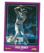 1988 Score Cleveland Indians Team Set With Julio Franco - $1.70