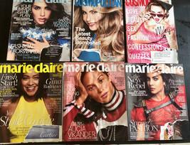 Lot Women's Magazines Marie Claire Cosmopolitan Fashion Entertainment 2017 2018 - $18.50