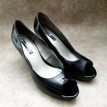 "Bandolino Womens Mylah  Sz 7.5 M Black  Peep toe 3"" Heels Pumps - $29.99"