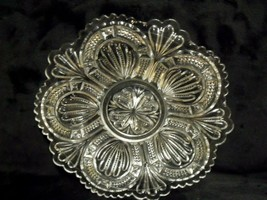 "ORNATE CLEAR GLASS EAPG 8"" SHALLOW BOWL - $39.60"
