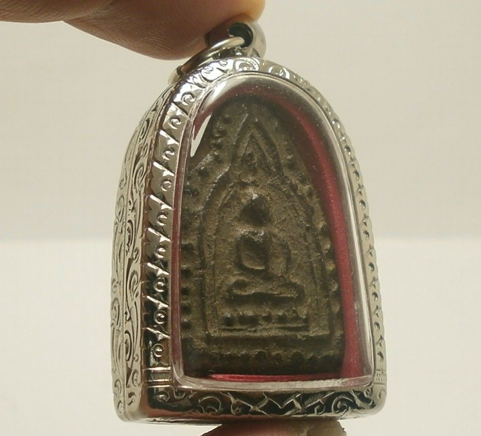 LP BOON LORD BUDDHA IN DHARMA SHIELD THAI POWERFUL MANTRA AMULET MIRACLE PENDANT image 2
