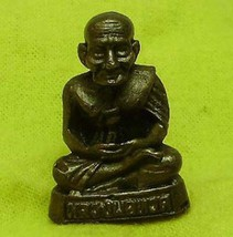 LP TUAD LUANG POO THUAD THAI BLESSED MINI BUDDHA AMULET WIN ALL OBSTACLE SUCCESS image 1
