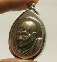 LP TUAD THUAD COIN THAI SACRED LEGEND MONK REAL BUDDHA AMULET LUCKY PENDANT RARE image 3