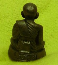 LP TUAD LUANG POO THUAD THAI BLESSED MINI BUDDHA AMULET WIN ALL OBSTACLE SUCCESS image 3