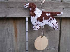 English Springer Spaniel crate tag or hang anywhere, full undocked natur... - $25.00
