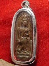 THAI ANTIQUE BUDDHA LEELA REAL THAILAND AMULET WIN ALL OBSTACLES LIFE PROTECTION image 3
