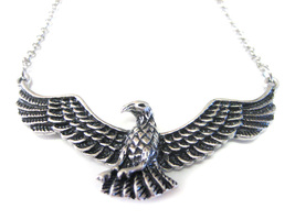 Silver Toned Soaring Bird Necklace - $18.99