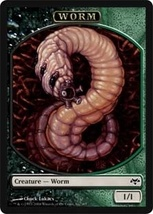 Magic The Gathering MTG Promo Token Worm Eventide - $1.95