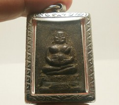 LP BOON BIG BELLY BUDDHA THAI ANTIQUE AMULET PROSPERITY LUCKY RICH HAPPY PENDANT image 1