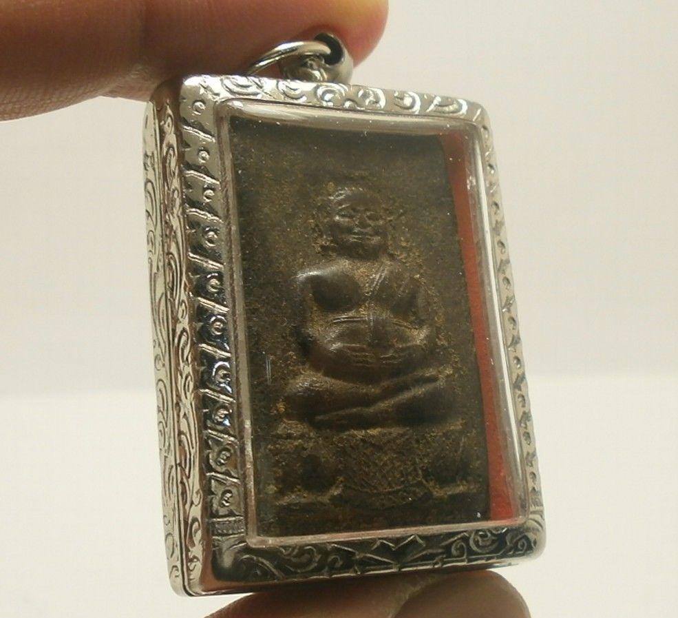 LP BOON BIG BELLY BUDDHA THAI ANTIQUE AMULET PROSPERITY LUCKY RICH HAPPY PENDANT image 2