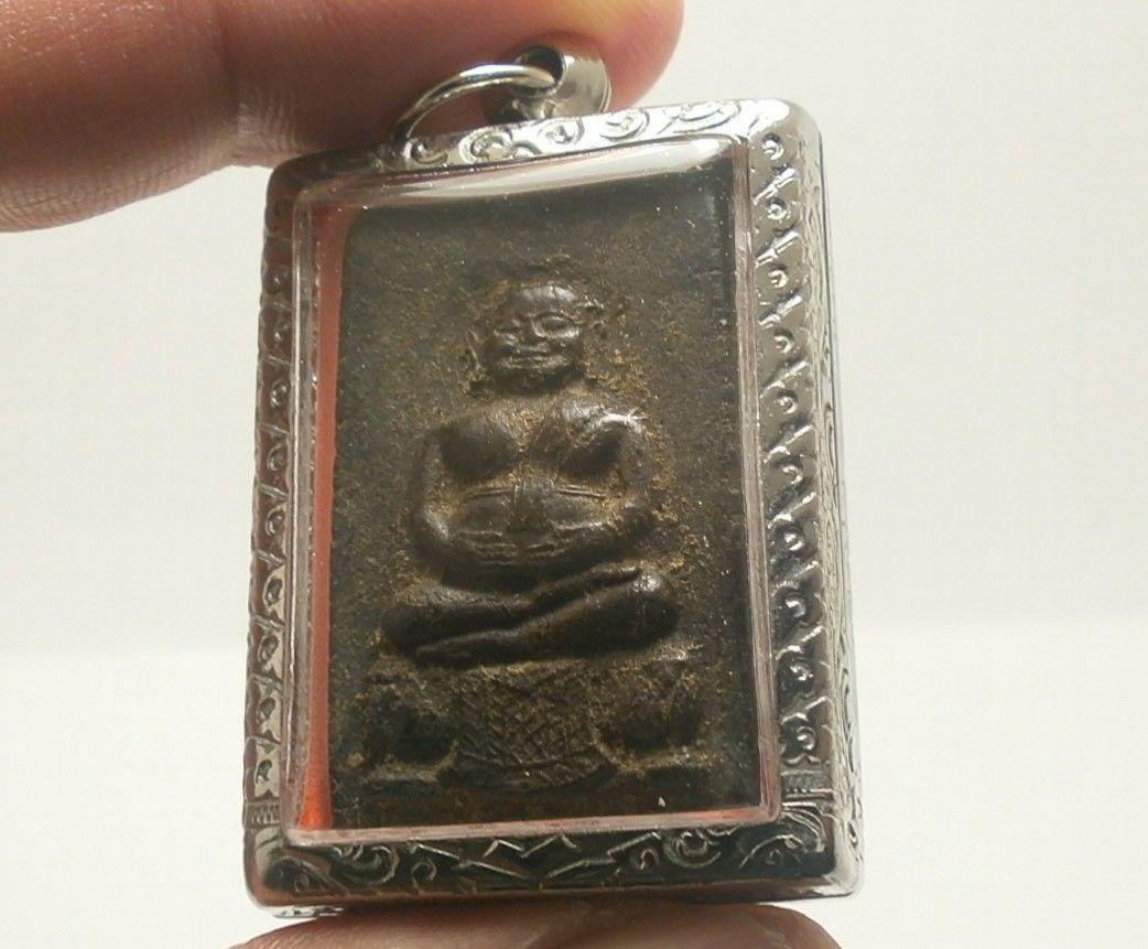 LP BOON BIG BELLY BUDDHA THAI ANTIQUE AMULET PROSPERITY LUCKY RICH HAPPY PENDANT image 3