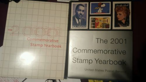2000 and 2001 commemorative stamp yearbook