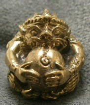 LORD HANUMAN MONKEY MUAY THAI FIGHTER LIFE PROTECTION MINI YANTRA BALL AMULET NR image 1
