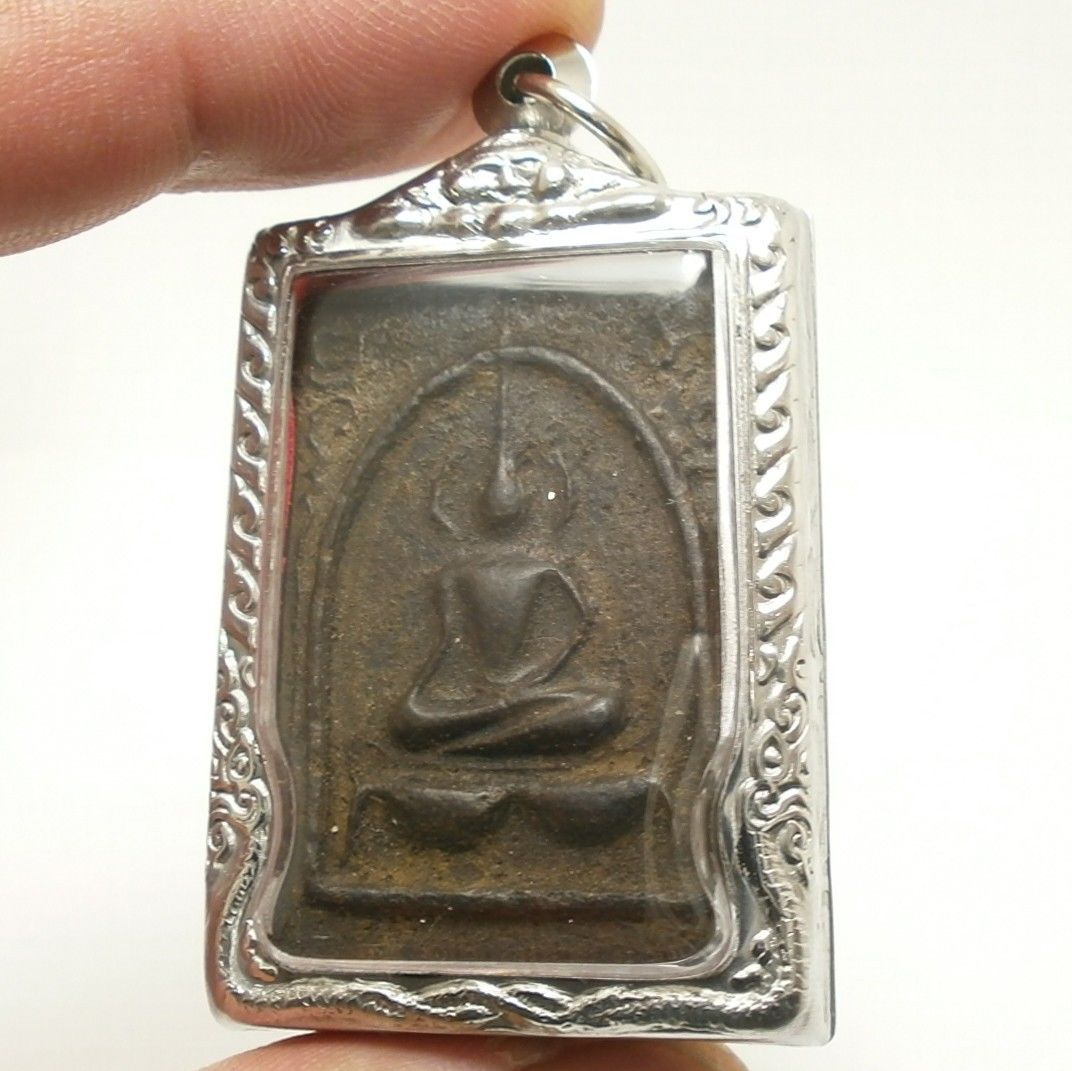 LP BOON BUDDHA IN SACRED TEMPLE THAI PEACEFUL HAPPY LUCKY SUCCESS AMULET PENDANT
