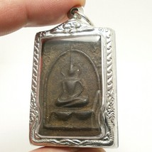 LP BOON BUDDHA IN SACRED TEMPLE THAI PEACEFUL HAPPY LUCKY SUCCESS AMULET PENDANT image 1