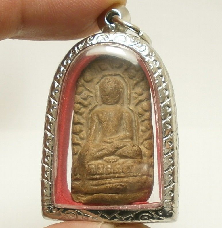 PHRA LUE LAMPOON THAI BUDDHISM ANTIQUE BUDDHA LUCKY SUCCESS AMULET RARE PENDANT